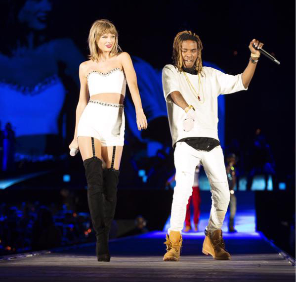 Guess Who's The New 'Trap Queen'? Taylor Swift Joined By Fetty Wap On Stage!