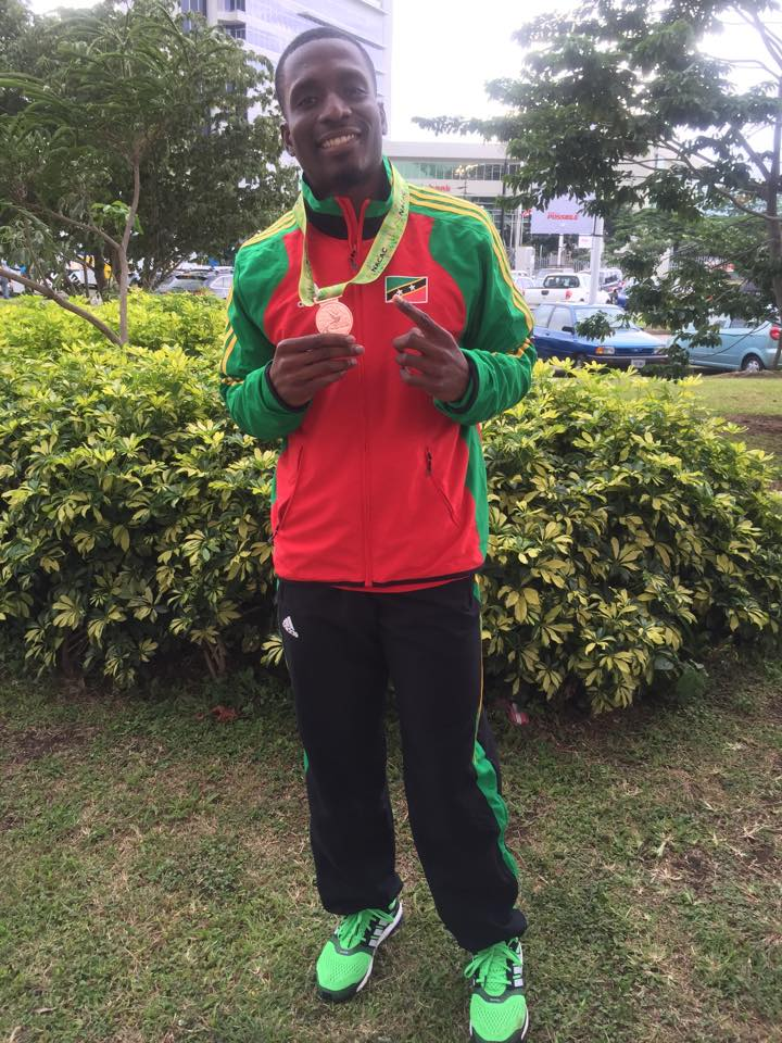 Kittitian Track and Field Star Antione Adams Does It Again!