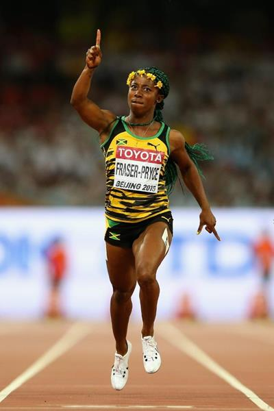 Jamaican Track Queen Shelly-Ann Fraser-Pryce Wins 100m In Beijing