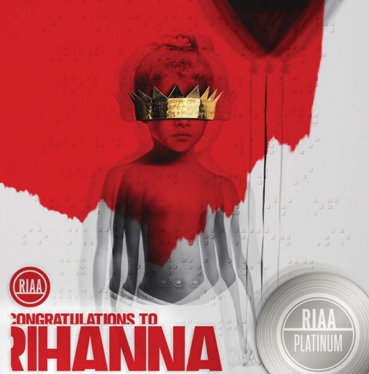 Rihanna's 'ANTI' Goes Platinum In Less Than 2 Days