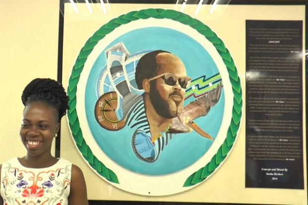 Local Artist, Sasha Herbert, Blesses The Clarence Fitzroy Bryant College With A Masterful Mural