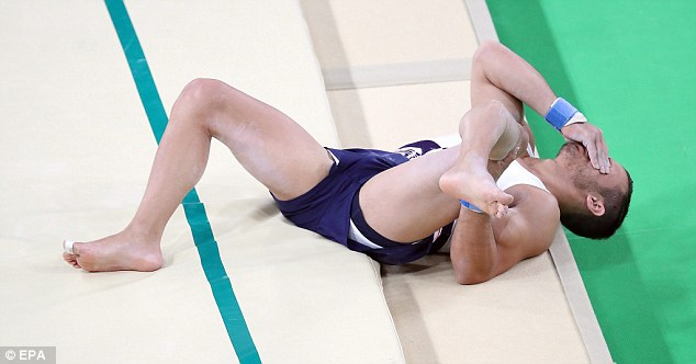 OUCH!!!! French Gymnast Samir Ait Said Snaps His Leg During Vault At Roi Olympics