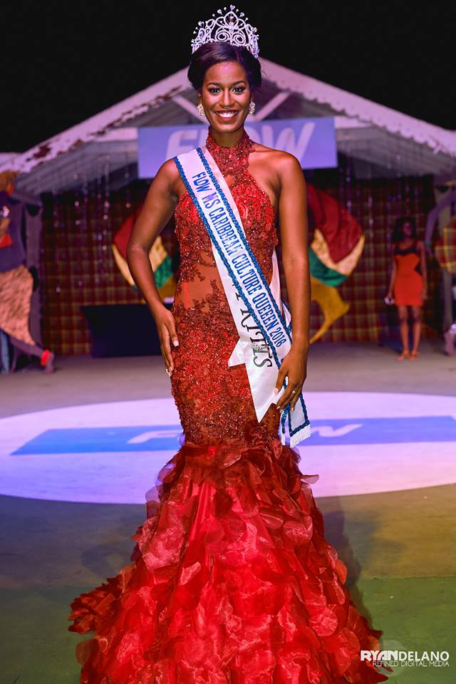 Reigning Miss Caribbean Culture Donates $1000XCD To Haiti