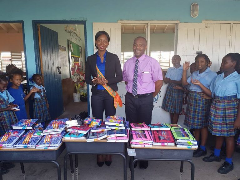 Miss St. Kitts-Nevis Hands Out School Supplies To 135 Children In St. Kitts