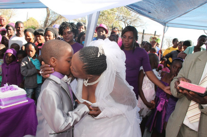9- year old Boy marries 63- year old Woman